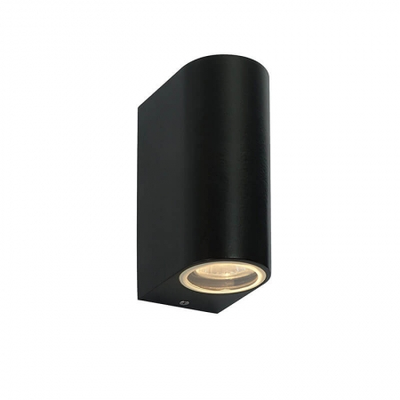 aluminum round black modern led outside wall lights for house